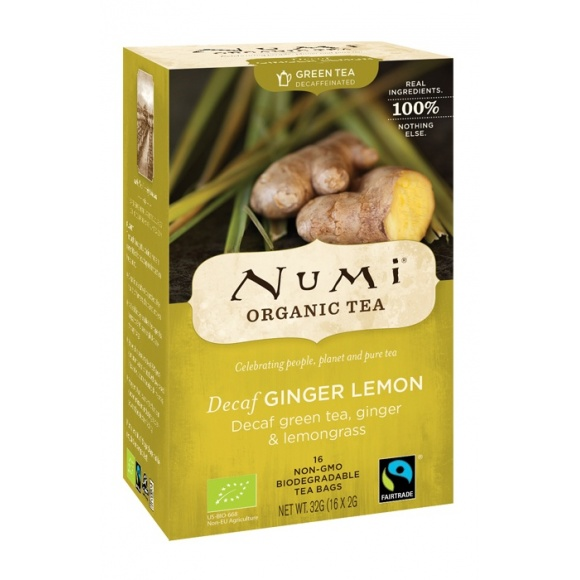 Lot de 6 Thés Decaf Ginger Lemon sachet 16 x 2g BIO