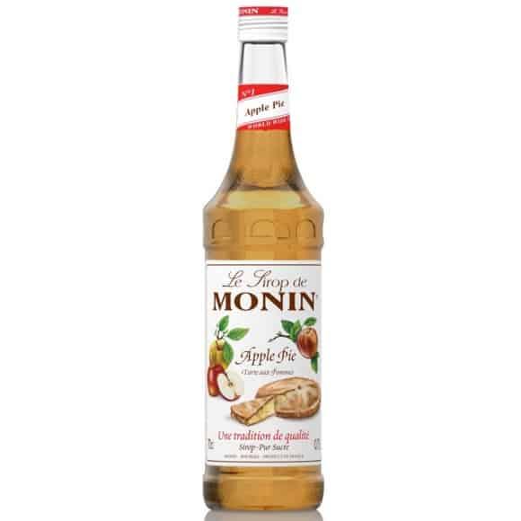 Monin Lot de 6 Sirops Apple Pie bouteille verre 700ml