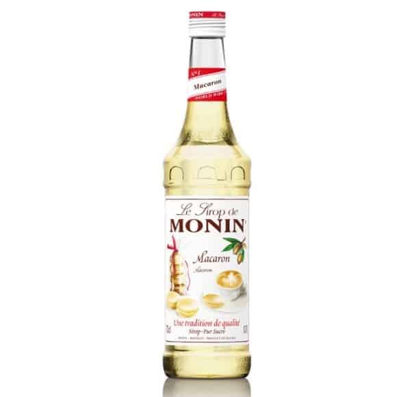 Monin Lot de 6 Sirops Macaron bouteille verre 700ml