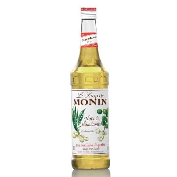 Monin Lot de 6 Sirops Noix de Macadamia bouteille verre 700ml