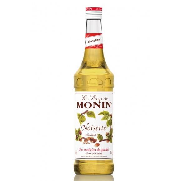 Monin Lot de 6 Sirops Noisette bouteille verre 700ml