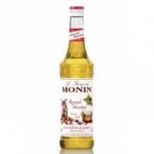 Monin Lot de 6 Sirops Noisette grillée bouteille verre 700ml