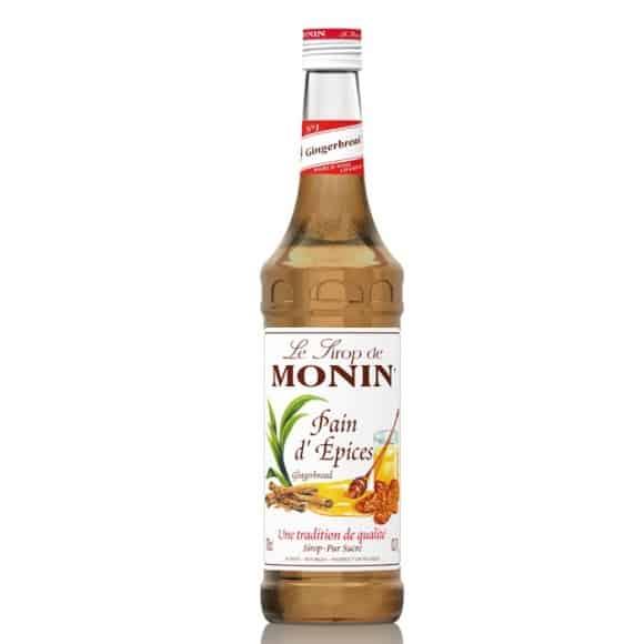 Monin Lot de 6 Sirops Pain d'épices bouteille verre 700ml
