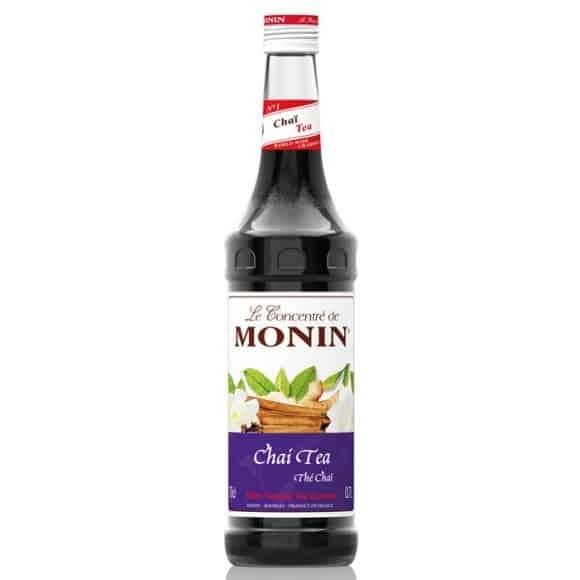 Monin Lot de 6 Sirops Thé Chaï bouteille verre 700ml
