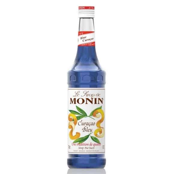 Lot de 6 Sirops Curaçao Bleu bouteille verre 700ml