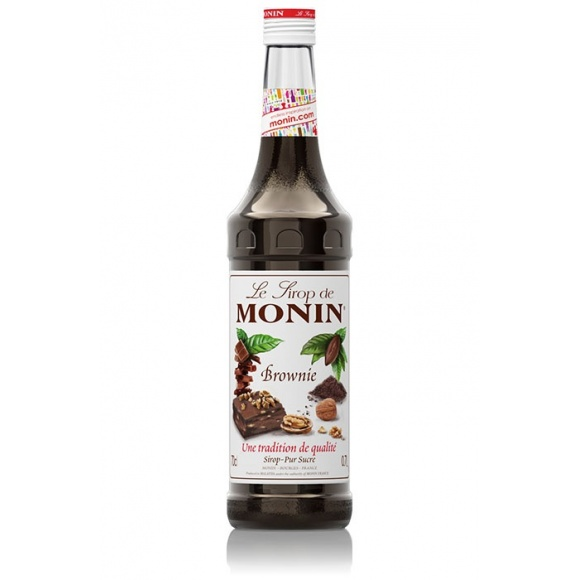 Monin Lot de 6 Sirops Brownie bouteille verre 700ml