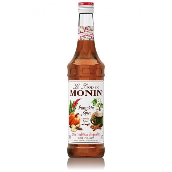 Monin Lot de 6 Sirops Citrouille épicée bouteille verre 700ml