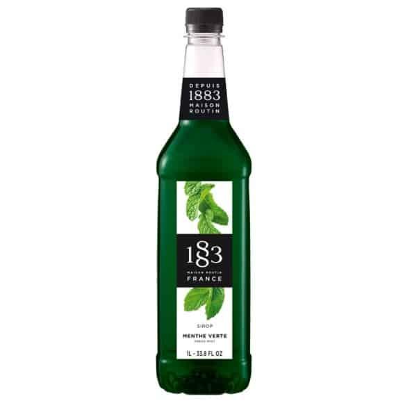 Lot de 6 Sirops Menthe verte bouteille PET 1L
