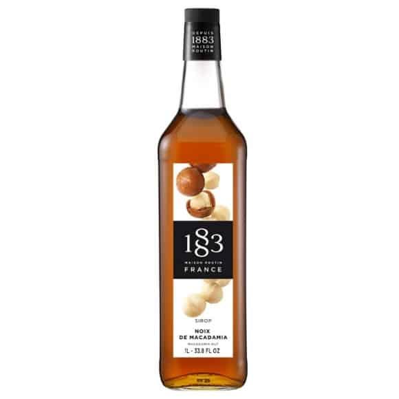 Lot de 6 Sirops Noix de Macadamia bouteille verre 1L