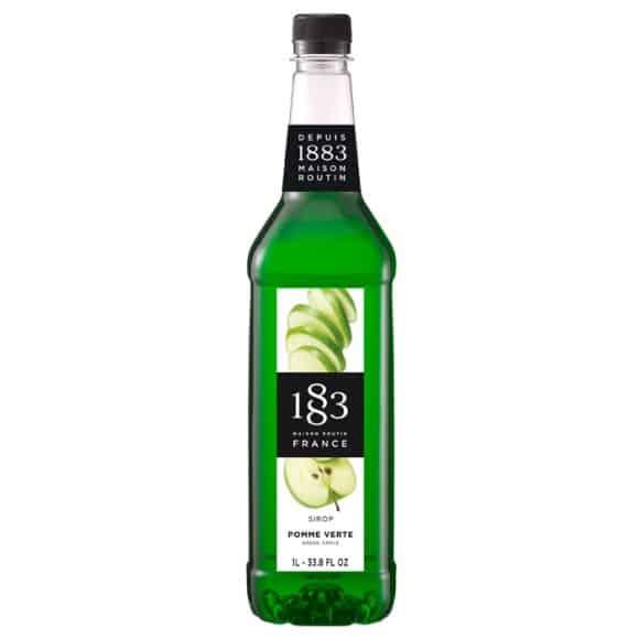 Lot de 6 Sirops Pomme verte Acide bouteille PET 1L