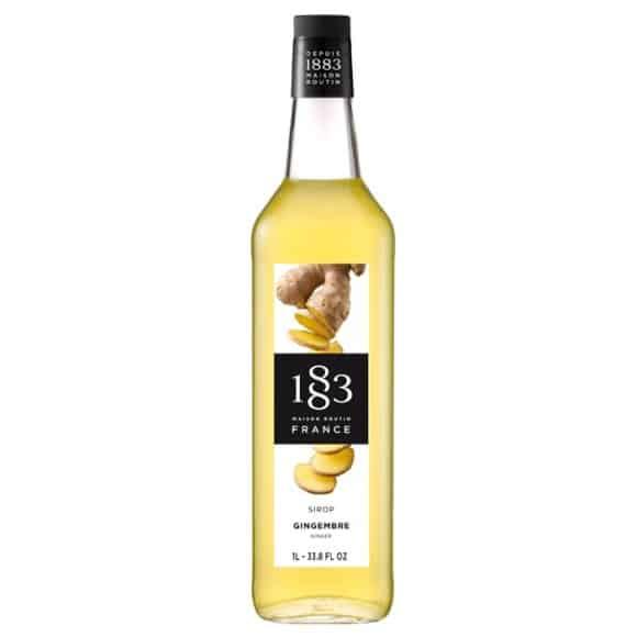Lot de 6 Sirops Gingembre bouteille verre 1L