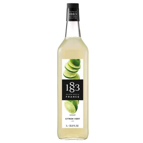 Sirop Citron vert bouteille verre 1L
