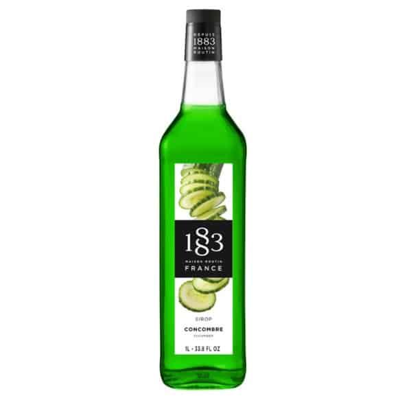 Lot de 6 Sirops Concombre bouteille verre 1L