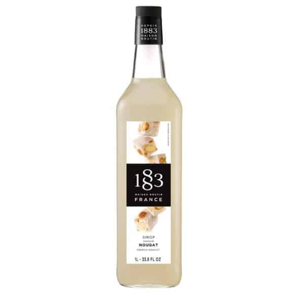 Lot de 6 Sirops Nougat bouteille verre 1L