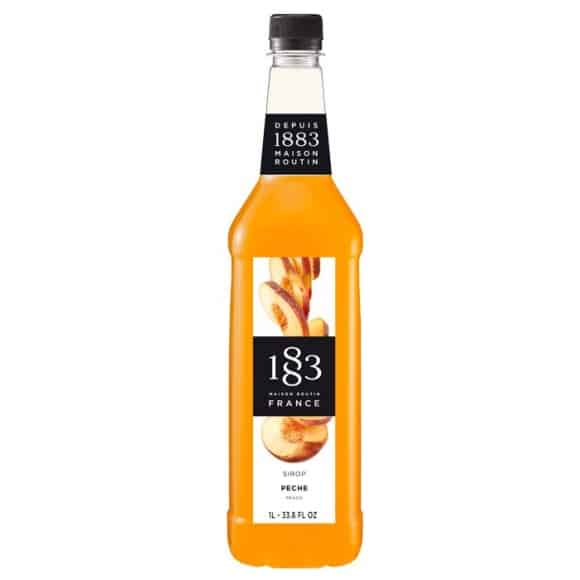 Sirop Pêche bouteille PET 1L