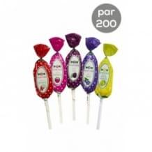 Assortiment Sucettes Tutti Frutti 5 parfums 200 x 15g