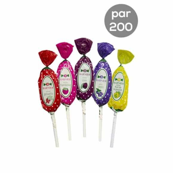 Assortiment Sucettes Tutti Frutti 5 parfums 200 x 13,5g