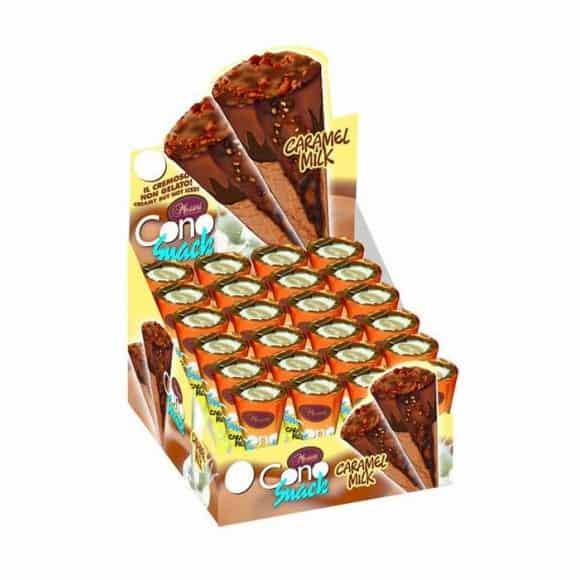 Promo -20% Présentoir mini cônes au chocolat et caramel 24 x 25g