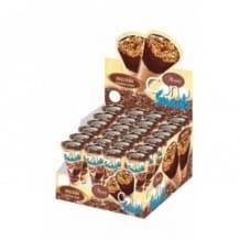 Présentoir mini cônes au chocolat et noisette 24 x 25g