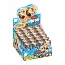 Présentoir mini cônes au chocolat et pépites multicolores 24 x 25g