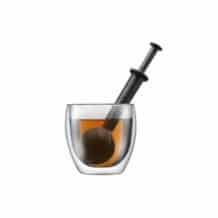 Bistro Boule à thé en plastique Noir