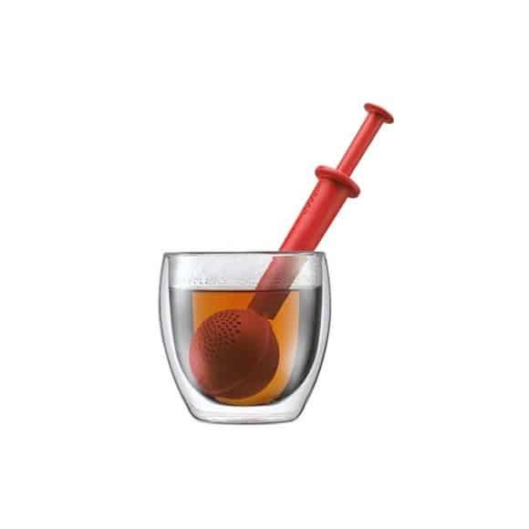 Bistro Boule à thé en plastique Rouge