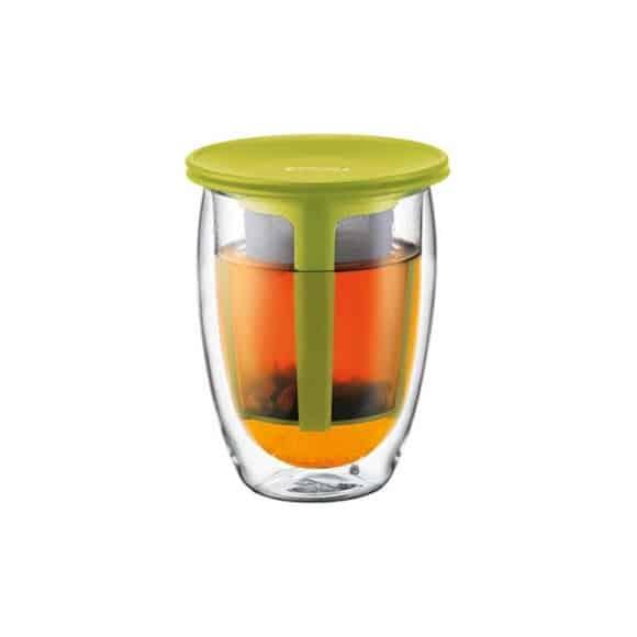Tea For One Verre 12oz-350ml + Infuseur à thé Vert
