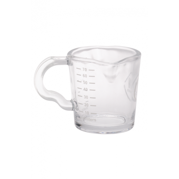 Verre de calibrage 80ml + double bec verseur