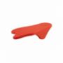SPLAT Tapis de tassage avec rebord caoutchouc Rouge