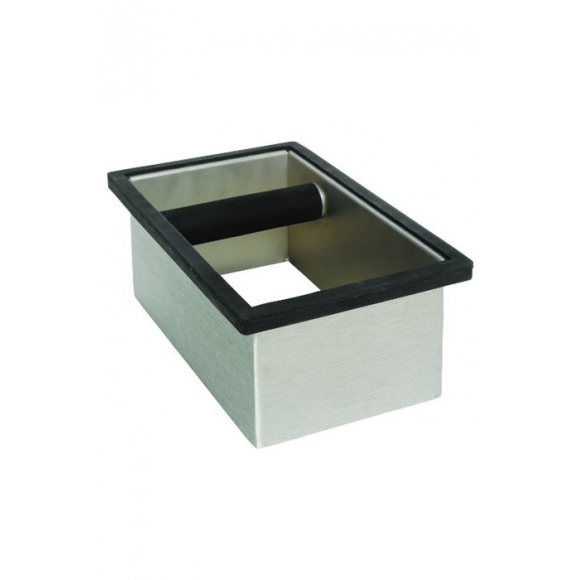 RECTANGLE Knock Box Sans Fond en inox