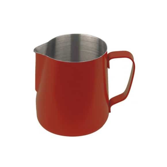 Pot à lait inox exterieur Téflon Rouge 12oz-350ml