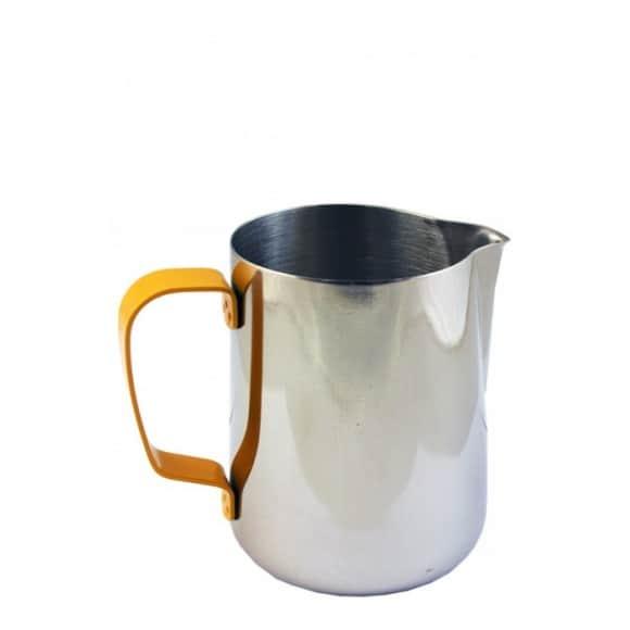 Pot à lait Inox poignée Jaune 32oz-950ml