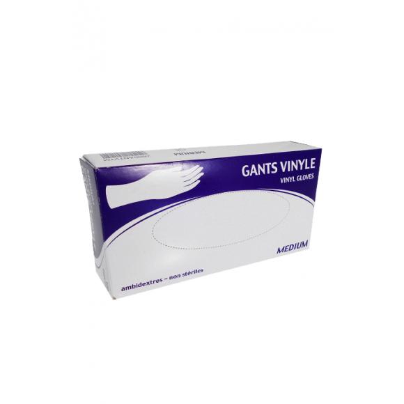Boîte x 100 Gants Vinyle Taille M avec Talc