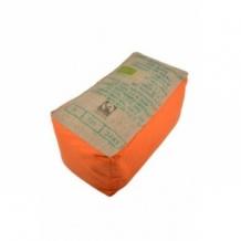 Banquette pouf en toile de jute orange 100% recyclée