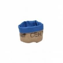 Corbeille bleue en toile de jute 100% recyclée taille S