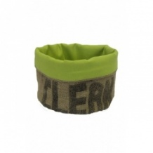 Corbeille verte en toile de jute 100% recyclée taille M