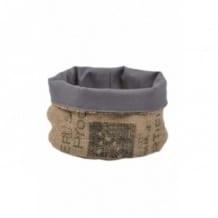 Corbeille grise en toile de jute 100% recyclée taille M