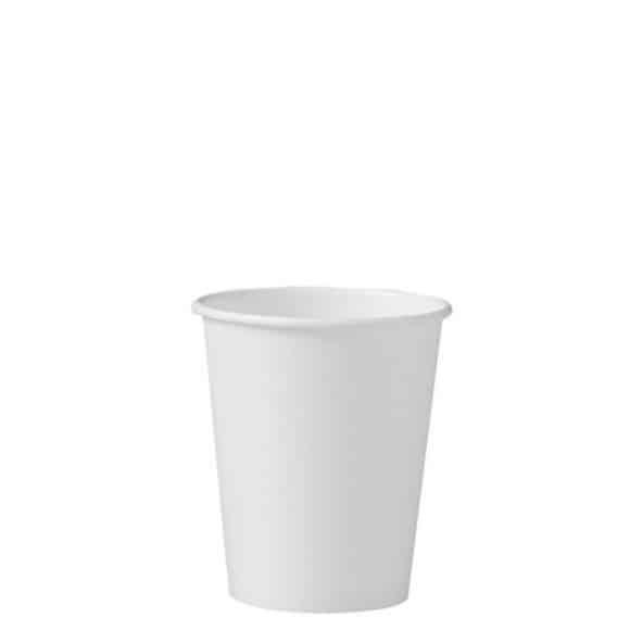Sachet x 50 gobelets carton Blanc 10oz/300ml Ø85mm