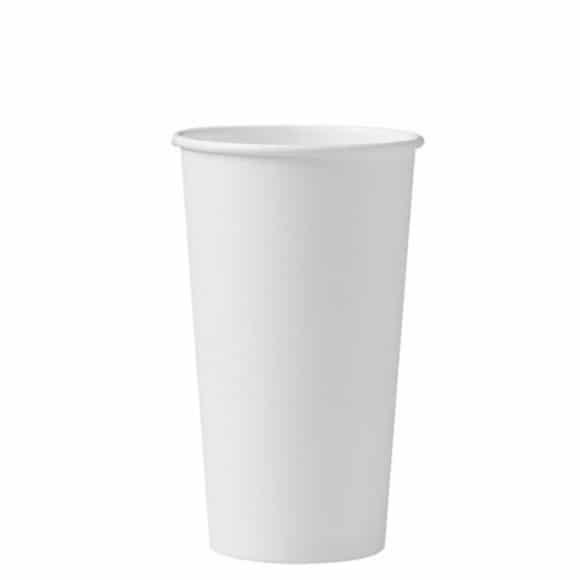 Sachet x 40 gobelets carton Blanc 20oz/592ml