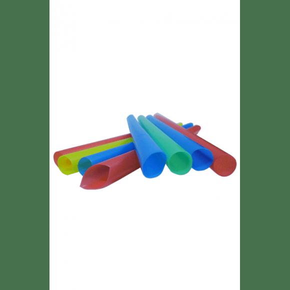 Sachet x 50 Pailles droite Multicolores D.12mm