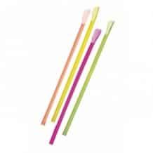 Sachet x 500 Pailles cuillères Multicolores Fluo D.8mm
