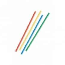 Lot de 4 sachets x 135 Pailles droites Multicolores D.8 mm