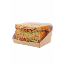Sachet x 100 barquettes kraft pour Sandwich Pain de mie