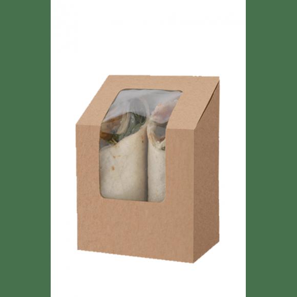 Boîtes kraft pour Wrap Tortilla Double x 500