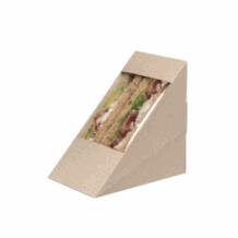 Boîtes kraft pour Sandwich Triangle Double x 500