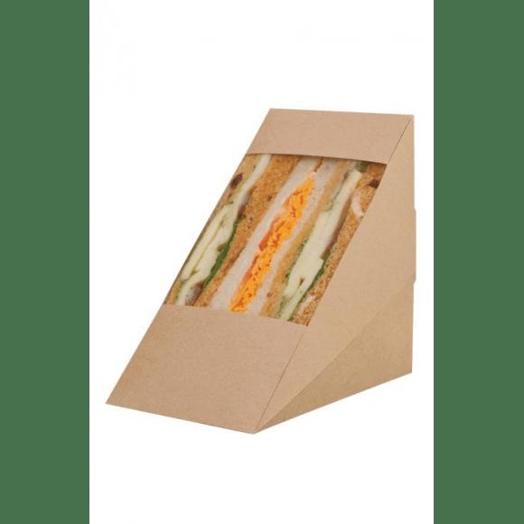 Boîtes kraft pour Sandwich Triangle Triple x 500