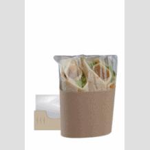 CLASP CLIP étuis kraft avec film pour Wrap Tortilla Double x 500