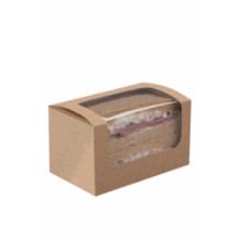 Boîtes kraft avec fenêtre pour pain de mie x 500