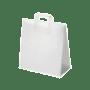 Sac SOS en papier blanc avec poignée H.260 X L.260 X P.170 mm x 250