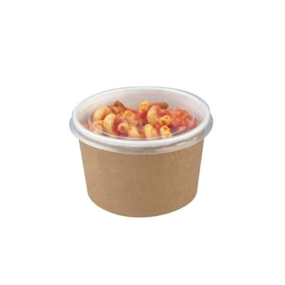 Pots à salade kraft avec couvercle PET 16oz/470ml x500